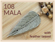 108 feather tassel Mala Beads