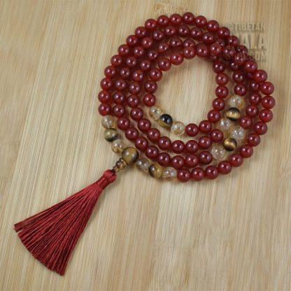 sacral chakra mala silk tassel
