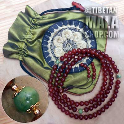 carnelian mala beads