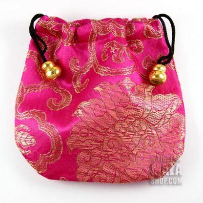 pink lotus mala bag