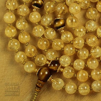 citrine hand knotted mala