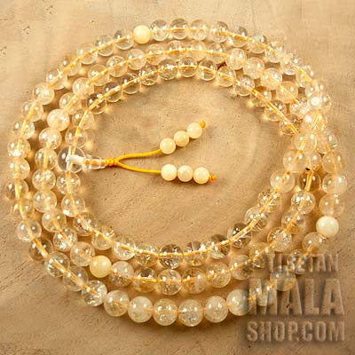 citrine mala beads