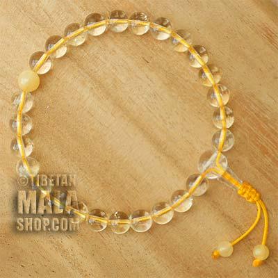 citrine wrist mala beads