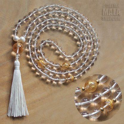 clear quartz mala