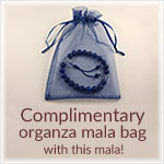 Complimentary Organza Prayer Beads bag