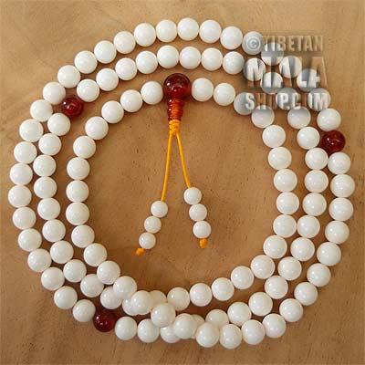 conch shell mala beads