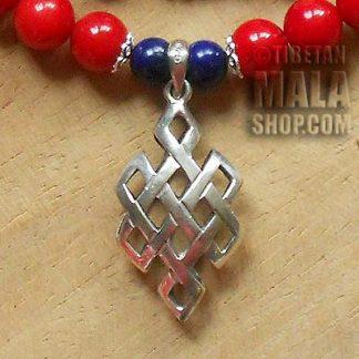 coral yoga beads