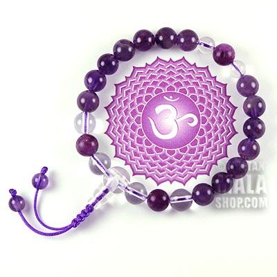 crown chakra mala bracelet