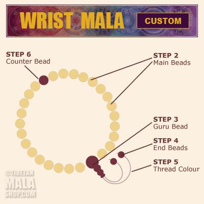 custom mala bracelet