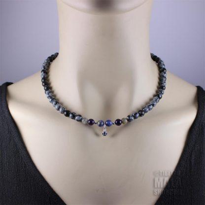 december birthstone choker necklace