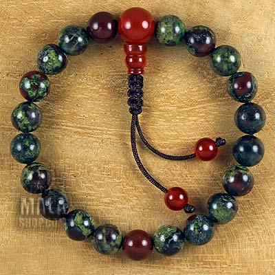dragon blood jasper mala bracelet