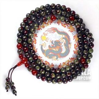 dragon blood jasper mala beads