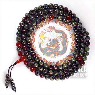 dragon blood jasper mala beads