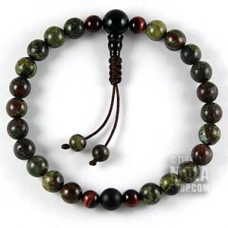 dragon blood jasper wrist mala