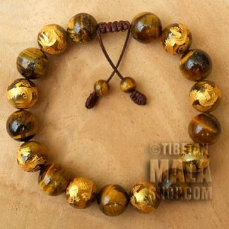 gold dragon tigers eye bracelet