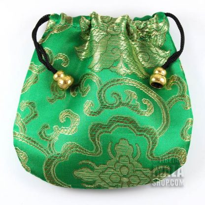 emerald lotus mala bag