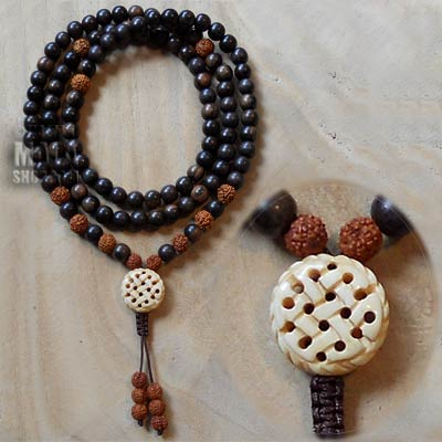 endless knot yoga mala
