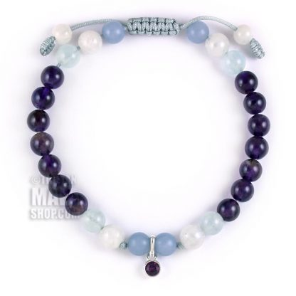 february birthstone charm bracelet
