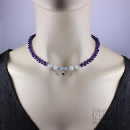 february birthstone choker necklace