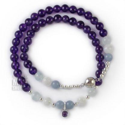 february birthstone wrap bracelet