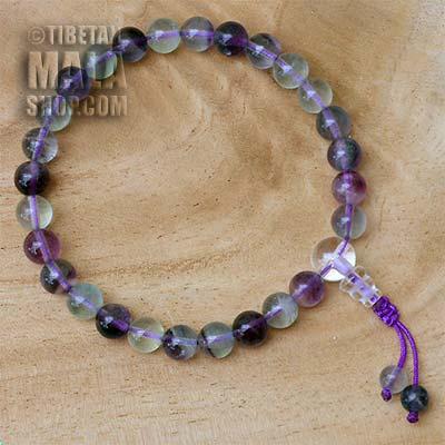 fluorite wrist mala beads