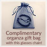 Complimentary Organza Glasses chain gift bag