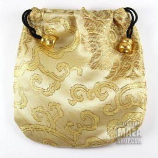 gold lotus mala bag