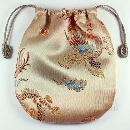 gold phoenix mala bag
