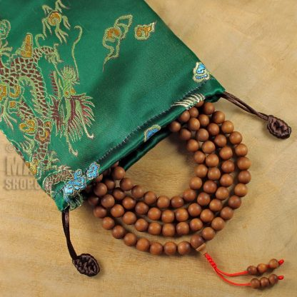 green dragon mala beads bag