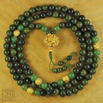 green gold mala