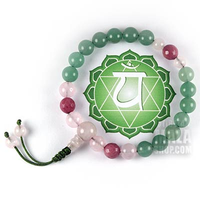 heart chakra mala bracelet
