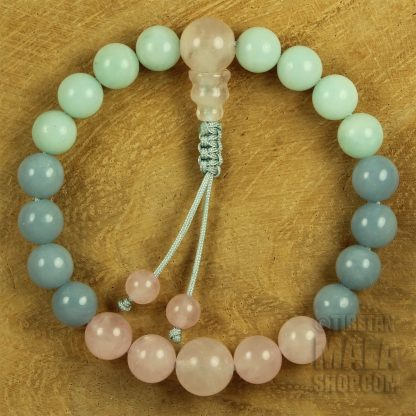heart mala bracelet