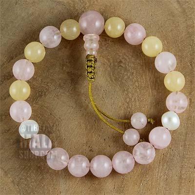 honeystone mala bracelet