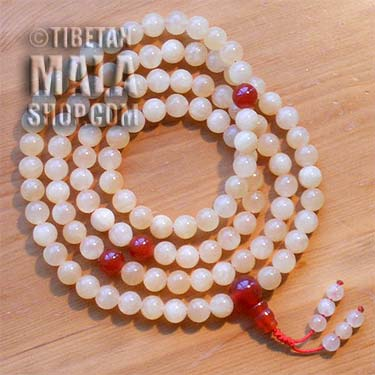 honeystone mala beads