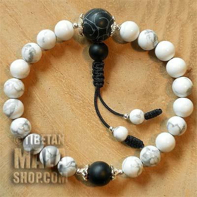howlite wrist mala beads