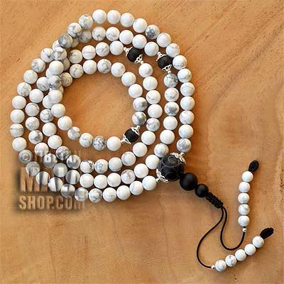 howlite mala beads