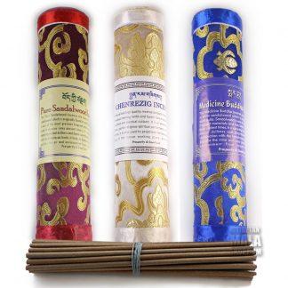 incense in brocade box