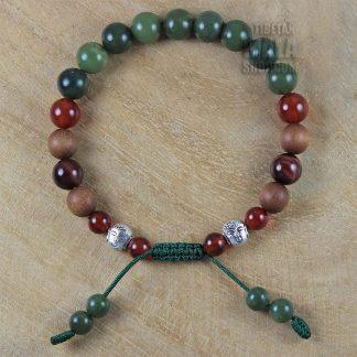 jade buddha bead bracelet
