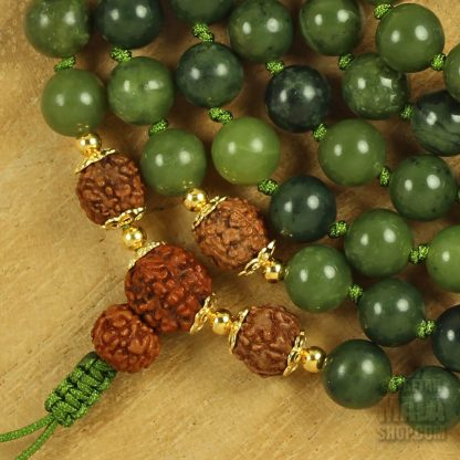 jade hand knotted mala