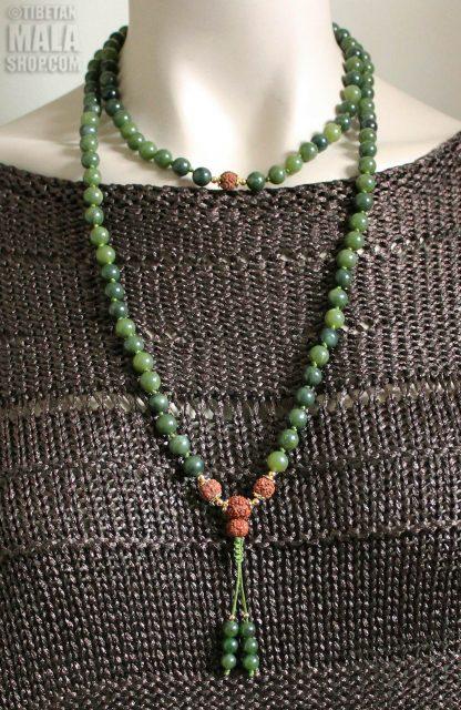 jade knotted mala length