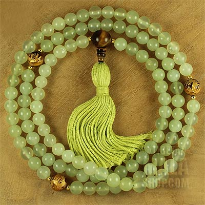 jade mala tassel necklace