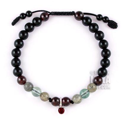 january birthstone charm bracelet
