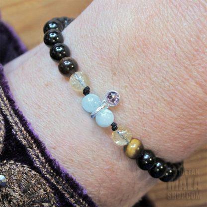 june birthstone charm bracelet