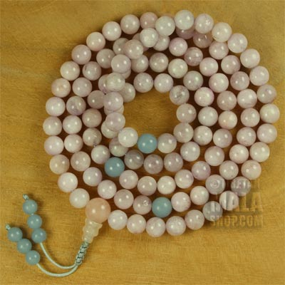 kunzite mala beads