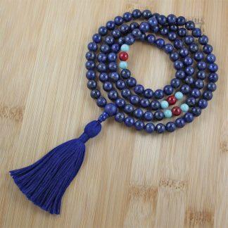 lapis lazuli buddhist mala