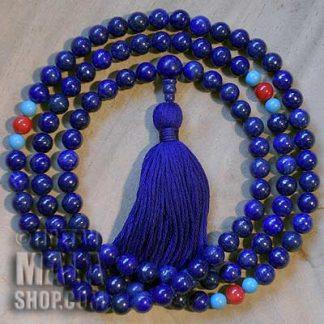 lapis lazuli buddhist mala beads