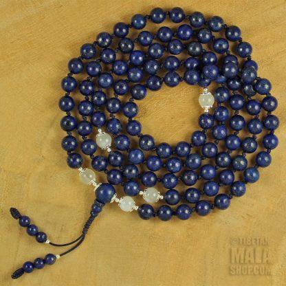 lapis lazuli knotted mala