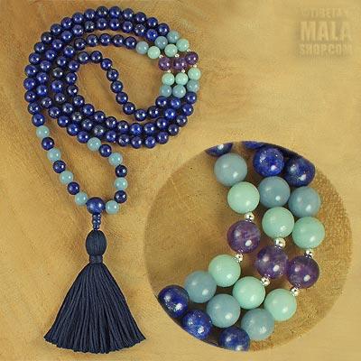 lapis lazuli tassel necklace