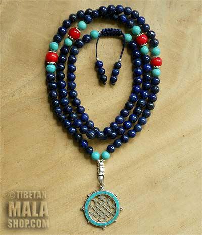 lapis lazuli yoga mala beads