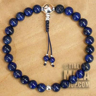 lapis lazuli wrist mala beads